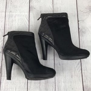EUC TIMO WEILAND - TSUBO Women's Leather & Calf Hair Heeled Boots
